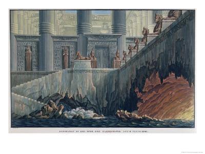 "Egyptian Set Design for Act II, Scene XXviii of the Opera ""The Magic Flute"""