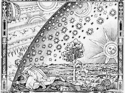 """The Scientist Leaving the World, in Style of c. 1520, from """"L'Atmosphere Meteorologie Populaire"""""""