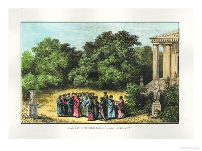 """Plato and His Disciples in the Garden of the Academy, from """"La Vie Des Savants Illustres"""""""