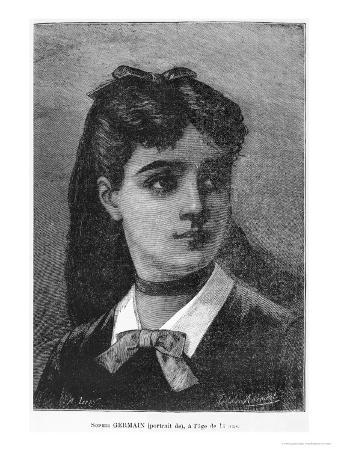 "Sophie Germain Aged 14, Illustration from ""Histoire Du Socialisme,"" circa 1880"