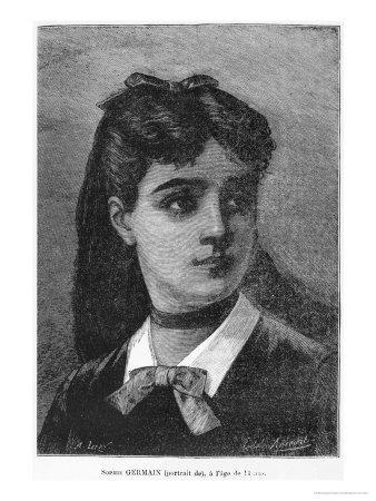 "Sophie Germain Aged 14, Illustration from ""Histoire Du Socialisme,"" circa 1880"