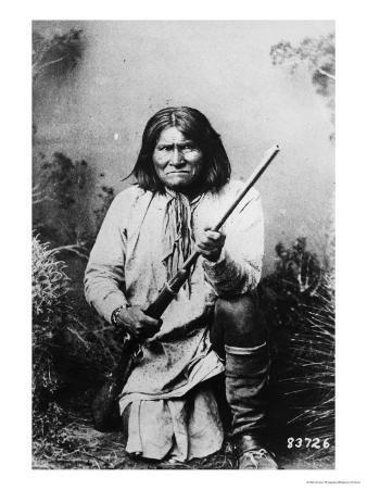 Geronimo Holding a Rifle, 1884