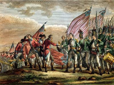 The Surrender of General John Burgoyne at the Battle of Saratoga, 7th October 1777