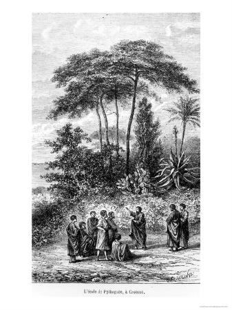 "The School of Pythagoras from ""Le Monde Illustre,"" 1865"