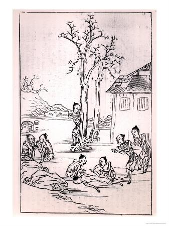 Cannibalism in China, from a Chinese Drawing, 1870