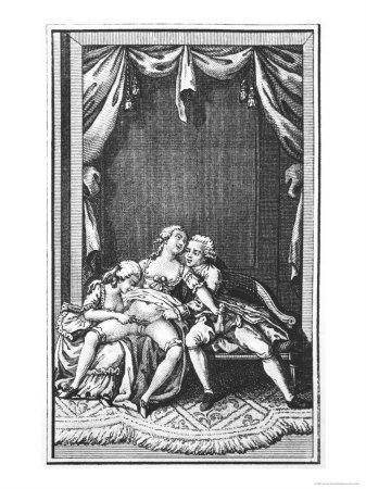 Illustration from Works by the Marquis De Sade