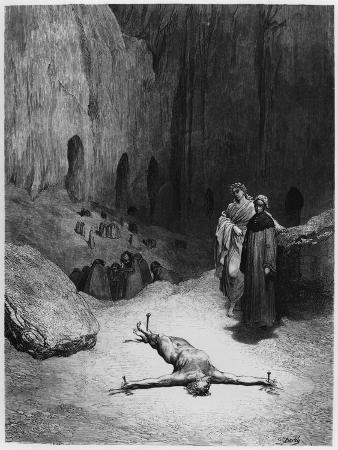 "Crucified Man, Illustration from ""The Divine Comedy"" by Dante Alighieri Paris, Published 1885"