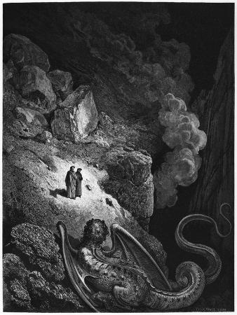 """Illustration from """"The Divine Comedy"""" by Dante Alighieri Paris, Published 1885"""