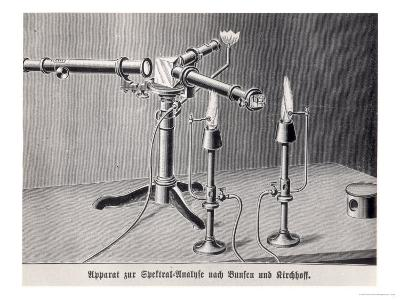 Bunsen-Kirchoff Spectroscope Invented by Robert Bunsen and Gustav Kirchoff in 1859