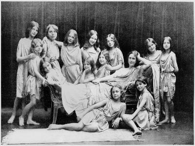 Isadora Duncan and Her Pupils from the Grunewald School, 1908