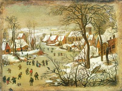 Winter Landscape with Figures on a Frozen River