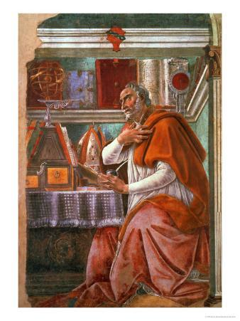 St.Augustine in His Cell, circa 1480