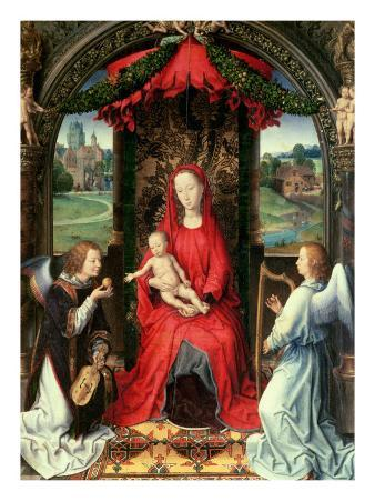 Madonna and Child Enthroned with Two Angels, 1480