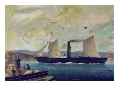 """The """"Mallorcan,"""" Ship on Which George Sand and Chopin Travelled to Mallorca"""