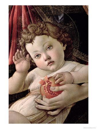 Detail of the Child with Pomegranate from the Madonna Della Melagrana
