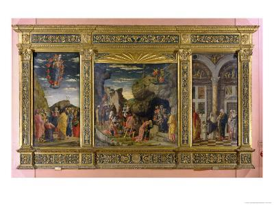 Altarpiece Showing the Ascension, the Adoration of the Magi and the Circumcision