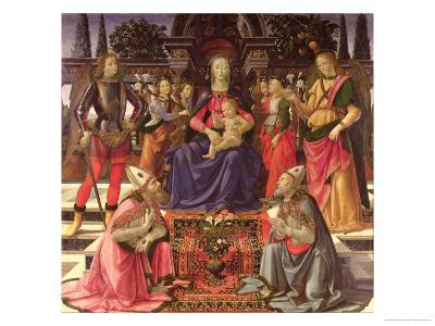 Madonna and Child with Ss. Justus, Zenobius and the Archangels Michael and Raphael