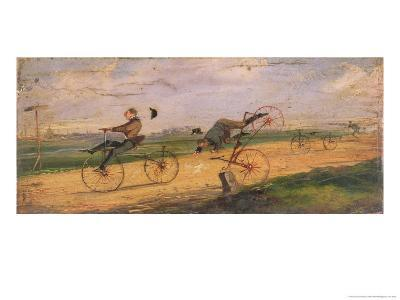 A Race Between Lallement Velocipedes, circa 1865