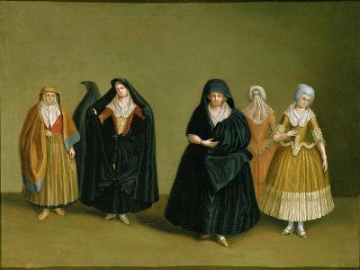 Ladies of the Knights of Malta with Their Maid Servant