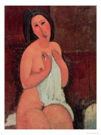 Seated Nude with a Shirt, 1917