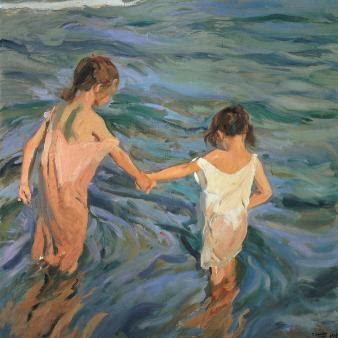 Children in the Sea, 1909