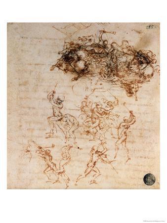 Study for the Battle of Anghiari, 1504-5
