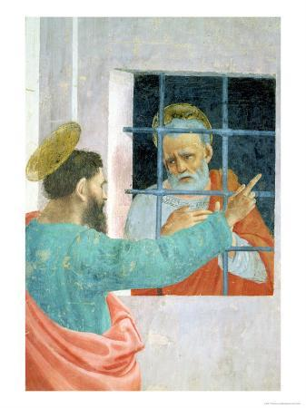 St. Peter Visited in Jail by St. Paul, circa 1480 (Detail)