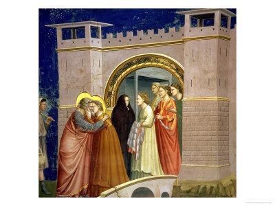 The Meeting at the Golden Gate, circa 1305 Gate in Jerusalem, circa 1305