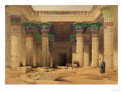 """Grand Portico of the Temple of Philae, Nubia, from """"Egypt and Nubia,"""" Vol.1"""