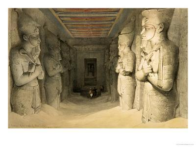 """Interior of the Temple of Abu Simbel, from """"Egypt and Nubia,"""" Vol.1"""