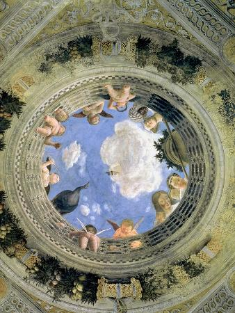 Trompe L'Oeil Oculus in the Centre of the Vaulted Ceiling of the Camera Picta or Camera Degli Sposi