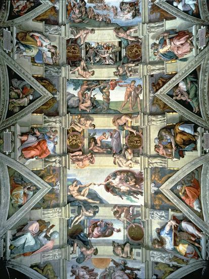 Sistine Chapel Ceiling And Lunettes 1508 12