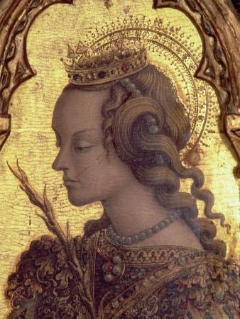 St. Catherine of Alexandria, Detail from the San Martino Polyptych