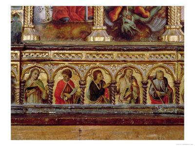 Five Apostles, from the Predella of the San Martino Polyptych