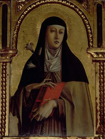 St. Clare, Detail from the Santa Lucia Triptych