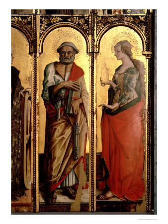 St. Peter and St. Mary Magdalene, Detail from the Santa Lucia Triptych