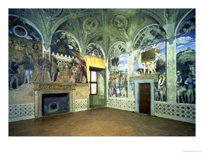 The Camera Degli Sposi or Camera Picta with Scenes from the Court of Mantua