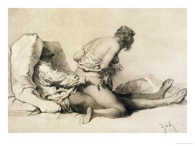"""A Man and Woman Making Love, Plate I of """"Liebe,"""" 1901"""