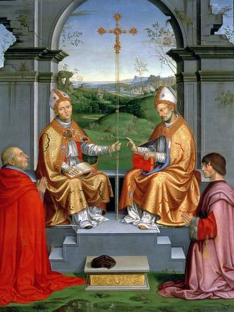 St. Thomas a Becket and St. Martin of Tours with Archbishop Giovanni Pietro Arrivabene