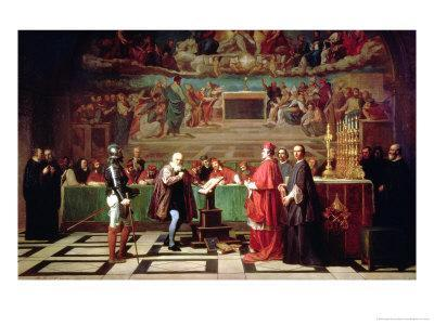 Galileo Galilei Before Members of the Holy Office in the Vatican in 1633, 1847