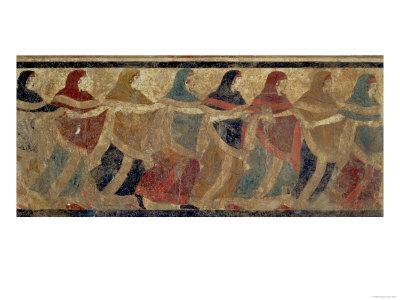 Women Performing the Funerary Ceremonial Chain Dance, from Ruvo, 4th Century BC