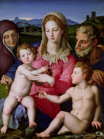 Holy Family with St. Anne and the Infant St. John the Baptist, circa 1550