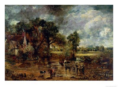 """Full Scale Study for """"The Hay Wain,"""" circa 1821"""