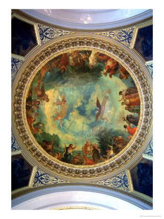 Aurora, Ceiling Painting Possibly from the Library, circa 1845-47