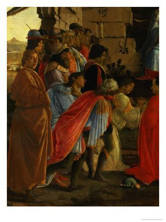 The Adoration of the Magi, Detail of Depicting Self Portrait and Those of the Medici Family