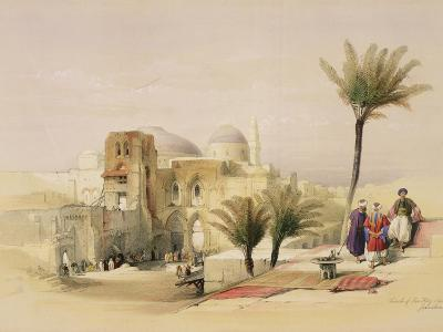 """Church of the Holy Sepulchre, Jerusalem, Plate 11 from Volume I of """"The Holy Land"""""""