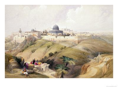 "Jerusalem, April 9th 1839, Plate 16 from Volume I of ""The Holy Land"""