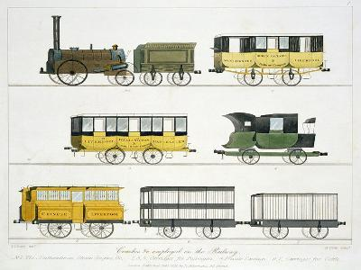 """Coaches Employed on the Railway, Plate 7 from """"Liverpool and Manchester Railway"""""""