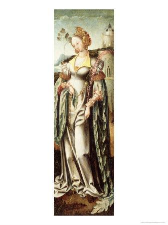 Saint Barbara, Altar Wing from a Triptych