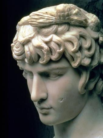 Portrait Head of Antinous Wearing the Wreath of Dionysus